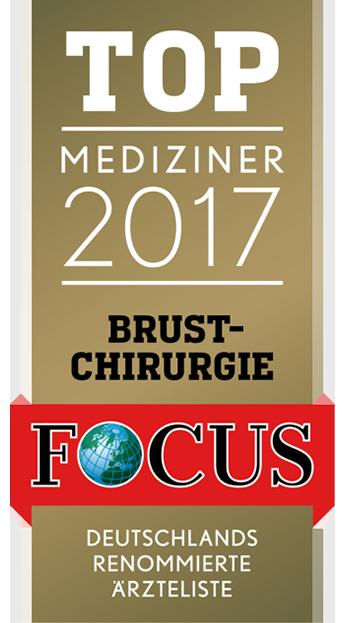 Auszeichnung für Dr. Olaf Kauder - TOP Mediziner 2017 im Bereich Brustchirurgie